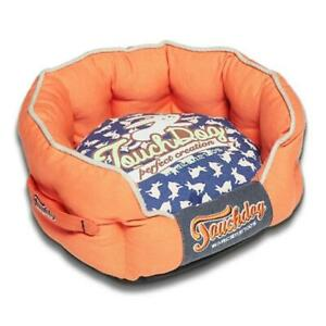 Pet Life PB62OGBLLG Touchdog Rabbit-Spotted Premium Rounded Dog Bed Large