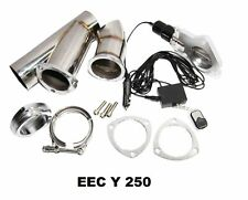 """2.5"""" SS Exhaust Catback Downpipe Cutout E-Cut Out Valve System Manual Electric"""