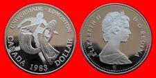 SILVER 1 DOLAR DOLLAR 1983 PLATA PROOF CANADA-30517