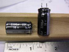 10 Panasonic ECEA1CGE222E 2200uF 16V 105C Radial Electrolytic Capacitors