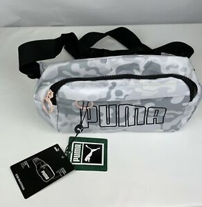 puma fanny pack Icon Waist Pack unisex Gray/pink Adjustable Straps New
