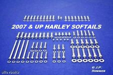 2007-2011 HARLEY DAVIDSON SOFTAIL POLISHED STAINLESS ENGINE BOLT SET KIT