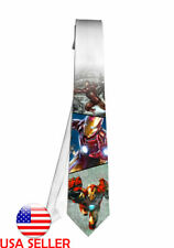 Iron Man Marvel Comic Necktie Neck Tie Anime Manga Men Child Cosplay Gift