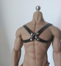 "1/6 Black SM Men's leather chest strap model For 12"" Phicen M34 M35 Male Figure"