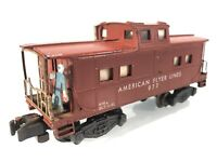 1955 AMERICAN FLYER #977 OPERATING CABOOSE METAL SIGNALMAN TUSCAN | S GAUGE