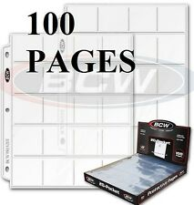 BCW Polypropylene Pages BOX 100 HOLDS 2x2 COIN HOLDERS 20 pockets per page