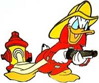 Disney Pin 2331 DLR Fireman Donald Duck