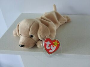 TY BEANIE BABIES - FETCH- GOLDEN RETRIVER PUPPY - WITH TAG - RETIRED