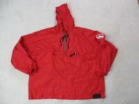 VINTAGE Marlboro Jacket Adult Extra Large Red Black Hooded Windbreaker 90s *