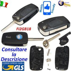 CHIAVE Telecomando GUSCIO FI2GB18 LAMA FLIP SIP22 2 TASTI per FIAT per LANCIA