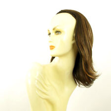 DT Half wig HairPiece extensions chocolate clear poly mesh copper 15.7 :18/627c