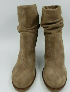 New VINCE CAMUTO Taupe Suede PARKA Boots 12 M Slouch Booties