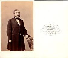 Lundbergh, Stockholm, Homme blond aux favoris, circa 1865 Vintage CDV albumen ca