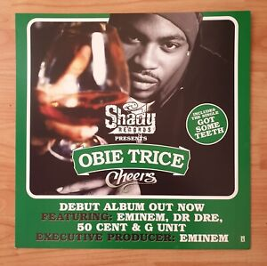 Obie Trice Double Sided Promo Poster Ultra Rare