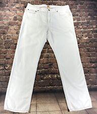 Tommy Bahama Size 38-32 Mens Jeans Authentic Linen Cotton Blend Ivory