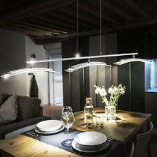 LED LUXUS Chrom Hänge Lampe Decken Glas Pendel Leuchte Esszimmer Touch Dimmer
