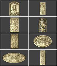 8 3D STL MODEL RELIEF ARTCAM CNC DECOR DECORATIVE PANEL