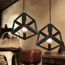 Black Pendant Light Kitchen Lamp Bar Ceiling Lights Home Vintage Cubic Lighting