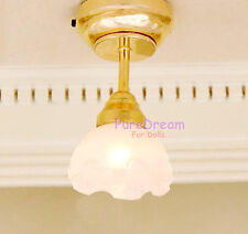 1/12 Dollhouse Ceiling lamp light battery operated magnet on lamp holder LC021E