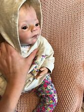 reborn baby pebbles kit, girl doll, comes with HUGE clothing lot