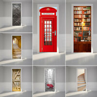 3D Door/Wall Stickers Art Decals Self Adhesive Mural Eco-friendly Materials