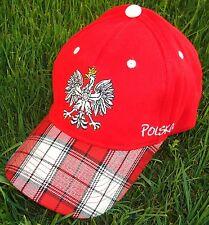 "Polen Kappe 2 ""KARO""  + neu + Fan 2018 Cap Polska 100 % Baumwolle Poland WM"