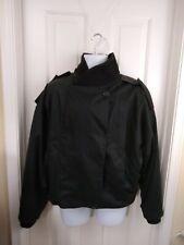 GIANNI VERSACE mens jacket black vintage coat bomber Cotton Leather XL 2XL Read