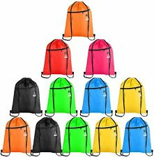 Drawstring Bags with Zipper Pocket Pull String Backpack Bags