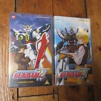 Mobile Suit Gundam W Wing VHS Video Cassette Tapes x 2 Pair UK PAL