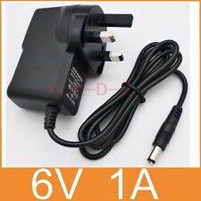 AC Converter Adapter DC 6V 1A Power Supply 6W 1000mA UK plug DC 5.5mm x 2.1mm