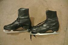 Vintage Black Ice Skates - Size 12? (Used ) Sheffield Steel