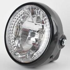 """Universal 7"""" LED Headlight Amber For Chopper Custom Cafe Racer Bobber +Bracket"""
