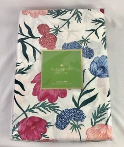 Kate Spade Tablecloth NEW 60 x 102 Rectangle 100% Cotton Blossom RN 18143