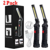 Magnetic Rechargeable COB LED Work Light Lamp Flashlight Inspect Folding Torch