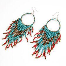 Indiana Orecchini in Perle Accessorio Turchese Colori Dorati Rosso