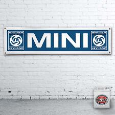 Mini Leyland  –  heavy duty banner for workshop, garage or man cave blue design