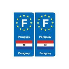 F Europe Paraguay autocollant plaque -  Angles : arrondis