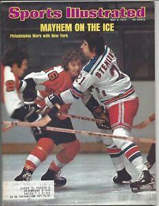 1974 5/6 Sports Illustrated magazine hockey New York Rangers v Philadelphia VG