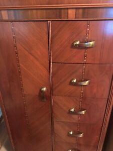 Art Deco Vintage armoire With Cedar Lined Closet