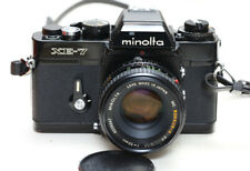 Minolta Xe-7 film Slr camera with Minolta Rokkor-X Pf 50mm f/1.7 lens