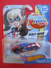 "HOT WHEELS CHARACTER CARS  DC SUPER HERO GIRLS ""HARLEY QUINN"" BFF'S VERY RARE"