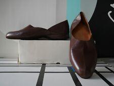 Herren Hausschuhe 45 braun velourleder Pantoffeln TRUE VINTAGE carpet slippers