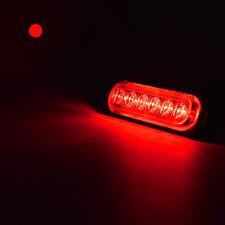 4XUltrathin CREE 6leds RED Flash Emergency Hazard Warning Strobe Light Bar 18W