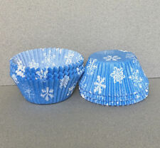 Light Blue Snowflake Cupcake Liners, Snowflake Cupcake Wrappers, Baking Cups