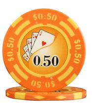50pcs 14g Yin Yang Casino Table Clay Poker Chips $0.50