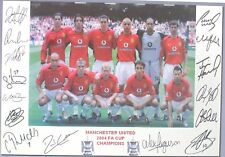 MANCHESTER UNITED  2004 FA Cup Champions signed Print