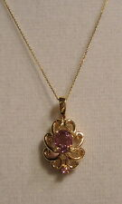 """NEW 18"""" Pink Spinel Necklace 1.30ct 14k YG (FREE GOLD CHAIN)"""