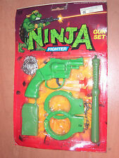 90'S VINTAGE TMNT KO NINJA FIGHTER GUN SET PLASTIC TOYS MOC