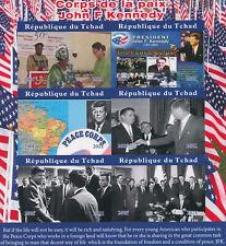 Chad 2021 MNH JFK Stamps John F Kennedy Peace Corps US Presidents 6v IMPF M/S