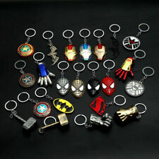 Superhero  Marvel DC Comics Key Pendants Alloy Keychains Gold Silver Keyring